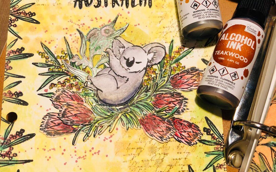 Australia & Alcohol Inks with Adriana