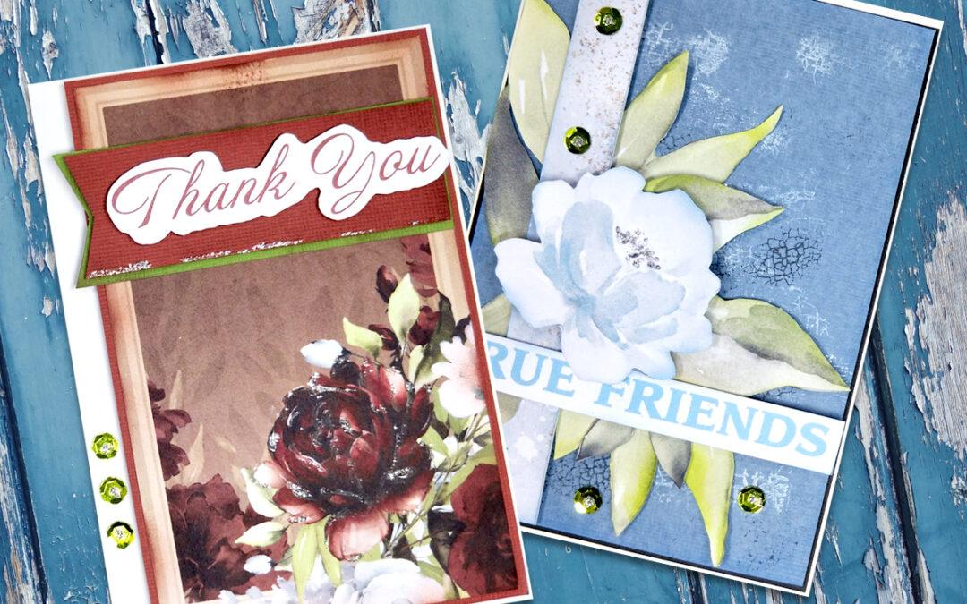 Simple Cards with Ephemera and Kaylee