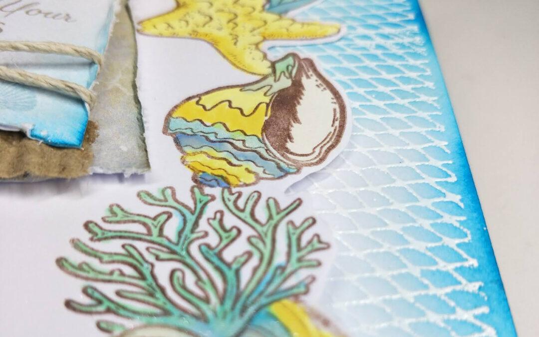 Bright Seaside Card with Kaylee