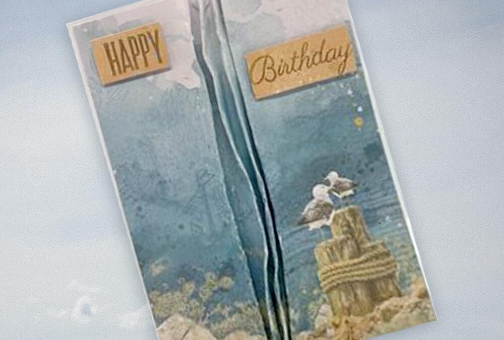 Birthday Beach Card with Cheryl