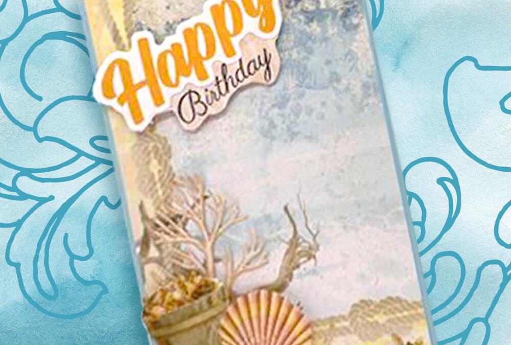 Seaside Birthday Card with Cheryl