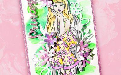 Lounging Princess Card with Kaylee