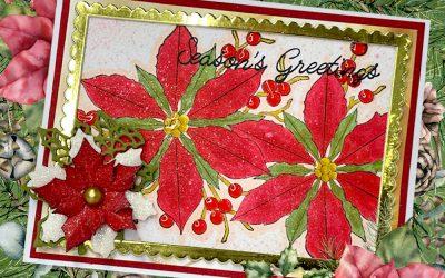 Poinsettia Christmas Card with Donna
