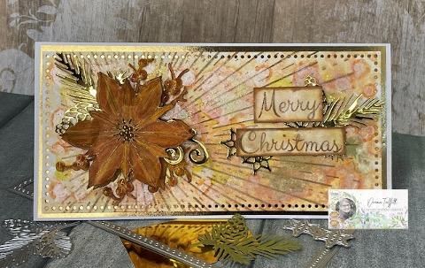 Sunburst Poinsettia card with Donna